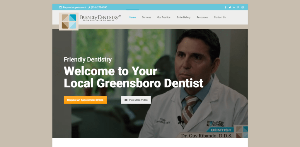Friendly Dentistry Homepage