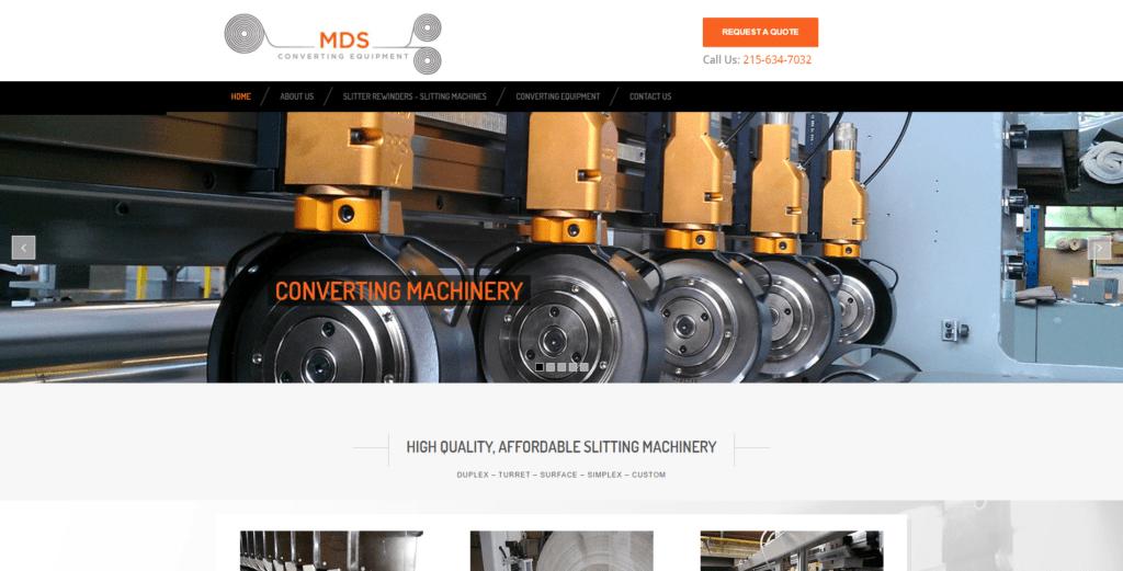 MDS Homepage Screenshot