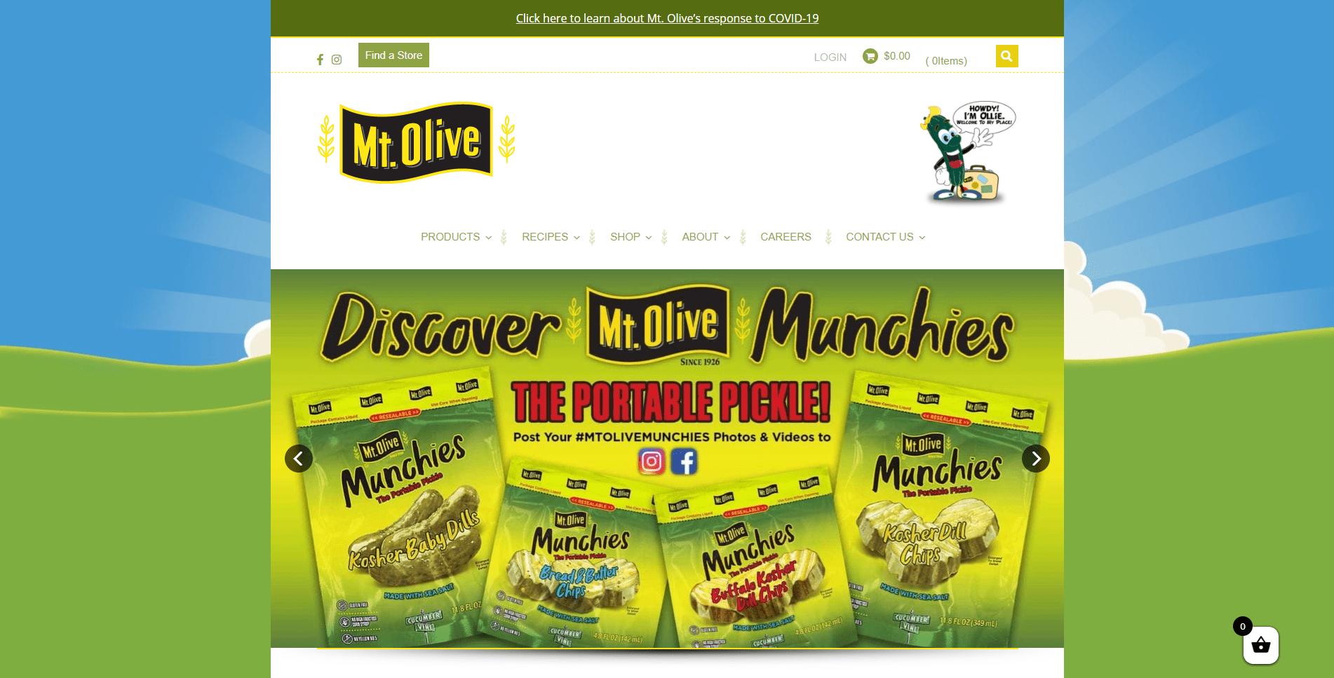 Mt. Olive Pickles Homepage