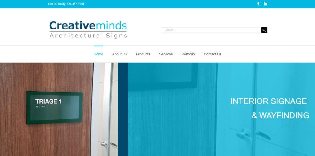 CreativeMinds Homepage Screenshot
