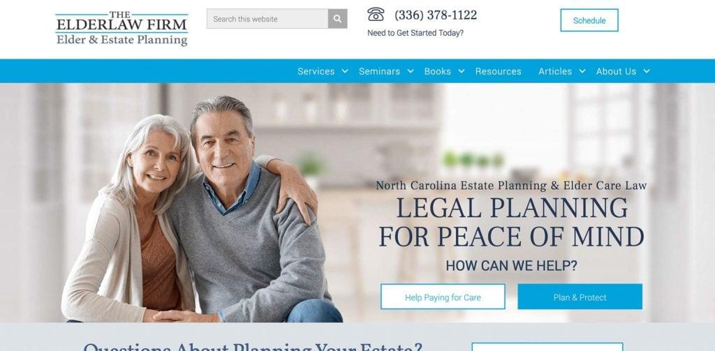 Elderlaw Firm Homepage Screenshot