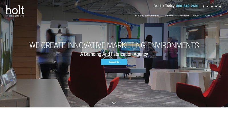 Holt Environments Homepage Screenshot