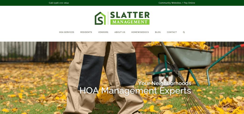Slatter HOA Management Website Homepage